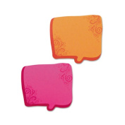 Thought Bubble Notes, 2 3/4 x 3, Neon Green, 75-Sheet Pads, 2/Set