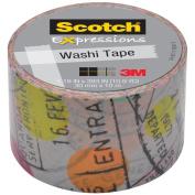 3M C314W-P1 Washi Tape 1. 18 inch x 393 inch - 30mmx10m -Travel