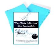 "TOC Silver Jewellery Cleaning & Polishing Cloth X 2, 220mm x 315mm, - 8.7"" x 12.4"""