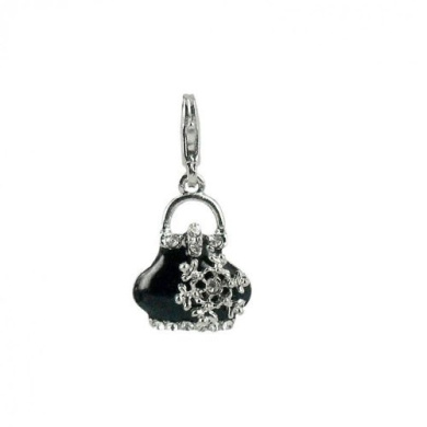 Charm handbag in steel by Charming Charms. up to 30