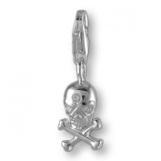 MELINA Charms clip on pendant skull sterling silver 925