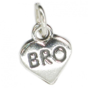Bro in heart sterling silver charm .925 x 1 Brother love family charms CF47881