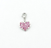 Pink Heart Charm, Pure by Coppercraft CH48