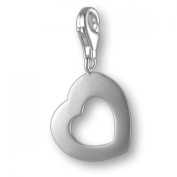 MELINA Charms clip on pendant heart sterling silver 925