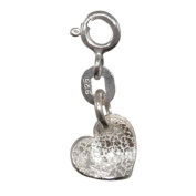 Silver Heart Charm |Handmade 925 Sterling Adults / Children. Gift Wrapped Gifts
