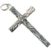 Perfectcharm Very Large Decorated Cross- Sterling Silver