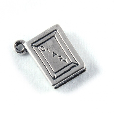 3D 925 Sterling Silver Charm - Diary / Book - FREE UK POSTAGE