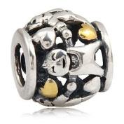 Family Circle - Sterling Silver Charm Bead - fits Pandora, Chamilia etc style Bracelets - SpangleBead