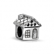 Bling Jewellery Family House Sterling Silver Bead Fits Pandora Chamilia Charms