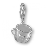MELINA Charms clip on pendant baby cup sterling silver 925