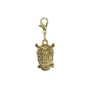 Charm owl in Gold plated 18K by Charm's Goldline