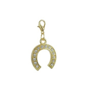Charm horseshoe in Gold plated 18K by Charm's Goldline