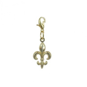 Charm Fleur-de-Lys in Gold plated 18K by Charm's Goldline