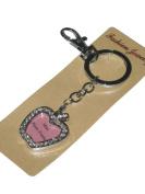 (6245) diamante key ring or bag charm mini photo frame