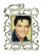 CLASSIC DESIGNS Sterling Silver 925 Elvis Photoframe Charm N232E