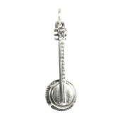 TheCharmWorks Sterling Silver Banjo Charm