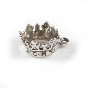 3D 925 Sterling Silver Charm - Crown - FREE UK POSTAGE