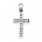 14ct White Gold Cross Pendant - JewelryWeb