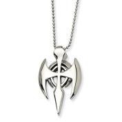 Stainless Steel Gothic Cross Pendant Necklace - 60cm - JewelryWeb