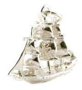 CLASSIC DESIGNS Sterling Silver 925 Cutty Sark Clipper Charm N176
