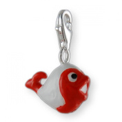 MELINA Charms clip on pendant fish sterling silver 925 enamel
