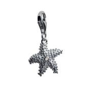 Hot Diamonds Starlet The Starfish Silver And Diamond Charm
