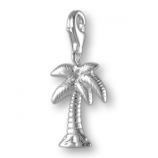 MELINA Charms clip on pendant palm tree sterling silver 925