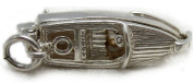 Welded Bliss Sterling 925 Silver Motor Boat Charm Opening to Anchor WBC1013
