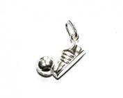 Markylis - Genuine Sterling Silver Football Charm / Pendant