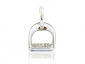 Gemma J Silver Sparkly Stirrup Charm CMN240