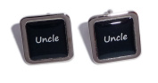 Uncle Black Square Wedding Cufflinks.