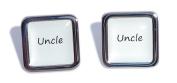 Uncle White Square Wedding Cufflinks.
