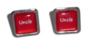 Uncle Red Square Wedding Cufflinks.