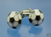 Black and White Football Cufflinks