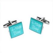 Page Boy Teal Square Wedding Cufflinks