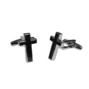 Black Christian Cross Cufflinks