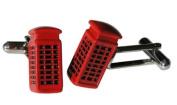 Red Telephone Box Cufflinks