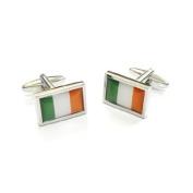 High Quality Irish Flag Cufflinks