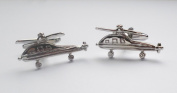 High Quality Military Helicopters Cufflinks