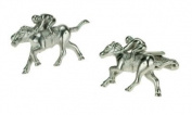 Horse & Rider Racing Cufflinks