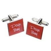 Pageboy Red Square Cufflinks - SSRC