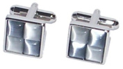 Blue & Silver Squares Cufflinks - PSF61