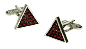 Novelty Cufflinks - Snooker Triangle - CK498 - Mens Gents Designer Fashion Novelty Cufflinks In A Presentation Box - Onyx Art - Perfect gift for Fathers Day, Stocking Filler or the Man in your life