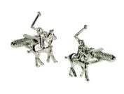 Mens novelty cufflinks - Polo players design