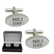 Mens Designer Dad Cufflinks - No1 Dad Cuff Links - GIFT BOXED