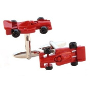 Red Racing Car Cufflinks in Gift Box
