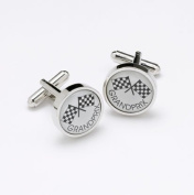Onyx Designer Cufflinks - Grand Prix - For the Formula One Lover