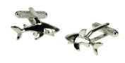 Shark Cufflinks in Gift Box Lawyer Solicitor - Onyx-Art London CK519