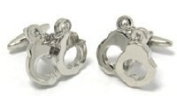 CL23 Police Hand Cuffs Design Stainless Steel Cufflinks in gift box