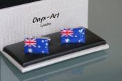 Novelty Mens Cufflinks - Australian Flag Design